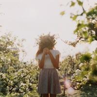 V sade jabloní